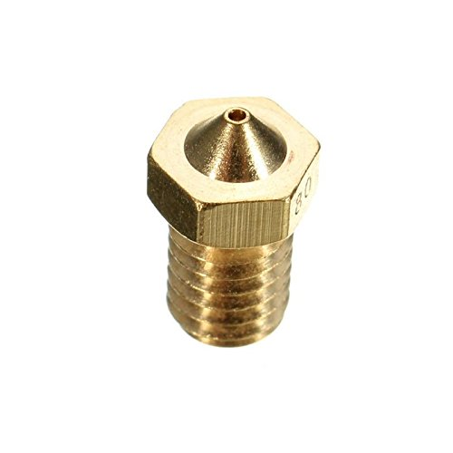 AKHILAM 0.25 mm Extruder Nozzle For 3D Printer Compatible With E3D V6 And E3D V5 J-Head Hotend And M6 Threaded Extruder (Pack of 3)
