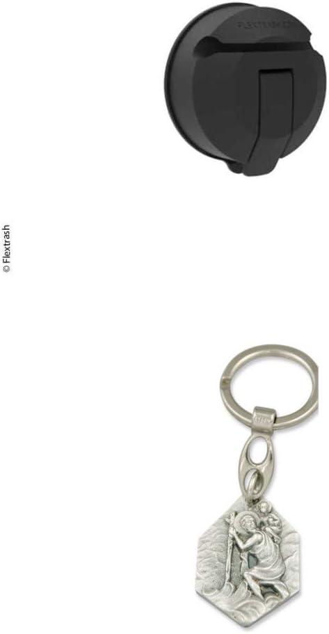 Zisa-Kombi Flextrash M/ülleimer Vacuclip 3M VHB Vakuum-Pad alle Untergr/ünde 9329889156532 inkl mit Anh/änger Herz Jesu 2,5cm