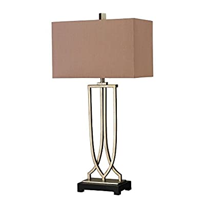 Dimond D229 Free Form Iron Table Lamp, 1-Light 100 Watts, Antique Silver Leaf