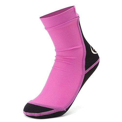 CIOR Fantiny Kids Beach Socks for Beach Soccer Volleyball Activities Swimming Playing(Women Men) Purple