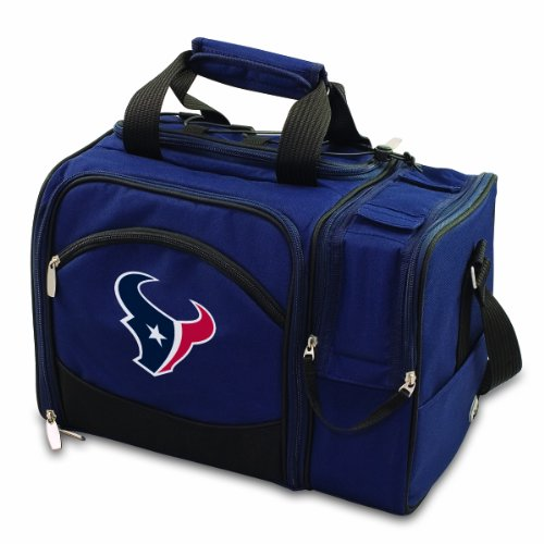 - PICNIC TIME NFL Houston Texans Malibu Insulated Shoulder Pack with Deluxe Picnic Service for Two