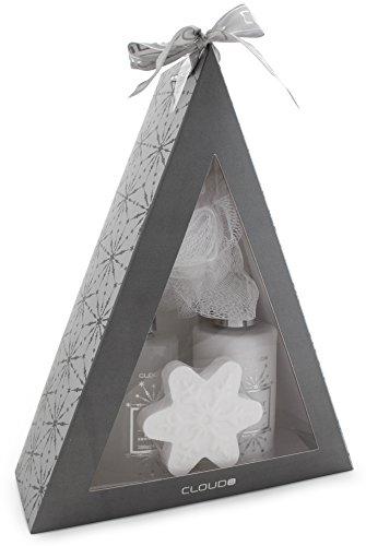 4-teiliges BRUBAKER Cosmetics Bade-Geschenkset 'Pyramide' silber