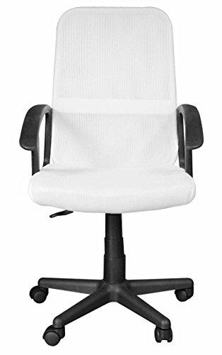 Urban Shop Rolling Mesh Chair, White