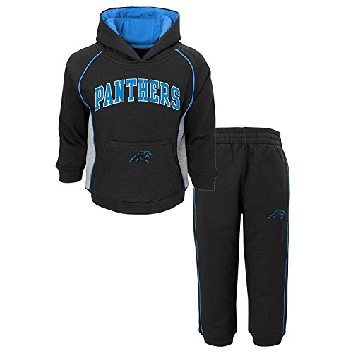 Carolina Panthers Black Blue NFL Infants 'Lil Fan' Hoodie and Pants Fleece Set (18 Months)