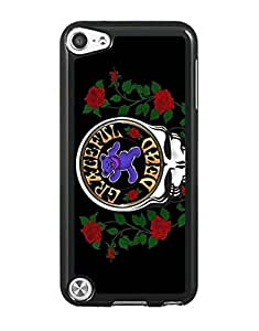 Mewmewtat - Grateful Dead Band Ipod Touch 5Th Cell Phone Funda Case Cover, Fashion Bright Pattern Phone Funda Case Hard Plastic Scratch-Proof Slim Drop Protection Back Funda Case Cover For Ipod Touch 5Th