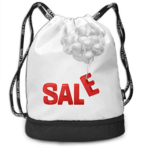 CheChenDengH Kordelzug Gymsack Sale Balloon Print Drawstring Bags - Simple Bundle Pocket Backpack