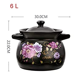 Wwshm Pot,Casserole,Wok,Soup Pot,Frying Pan,Korean Bibimbap,Cast Iron,Dutch Oven Cooker,With Lid,Non Stick,New Arrival,Household,Gas,Open Fire,ceramics,High Temperature Resistance