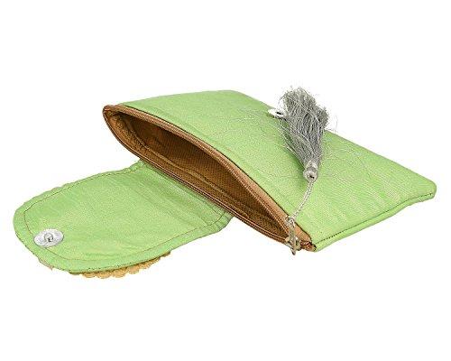 Splendida India Bella Zari Ricamo E Pietra Lavoro Designer Clutch (borsa) Per Le Donne