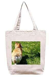 Welsh Corgi–algodón Canvas Tote Bag