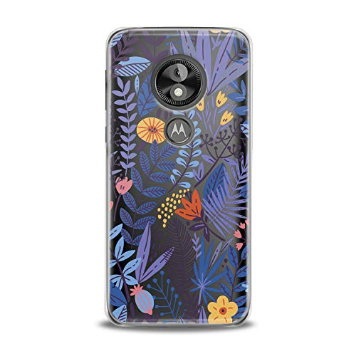 Lex Altern TPU Case Motorola Moto G7 One P30 Play Note Z3 G6 E5 Plus Blue Leaves Abstract Phone Clear Tropical Crystal Colorful Cover Fern Silicone Wild Flowers Printed Protective Girls Women Flex