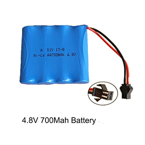 SZJJX 4.8V 700Mah Rechargeable Spare Battery Pack for RC Cars Off-Road Rock...