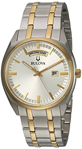 Bulova Men's 'Classic' Quartz Stainless Steel Casual Watch, Color Two Tone (Model: 98C127)