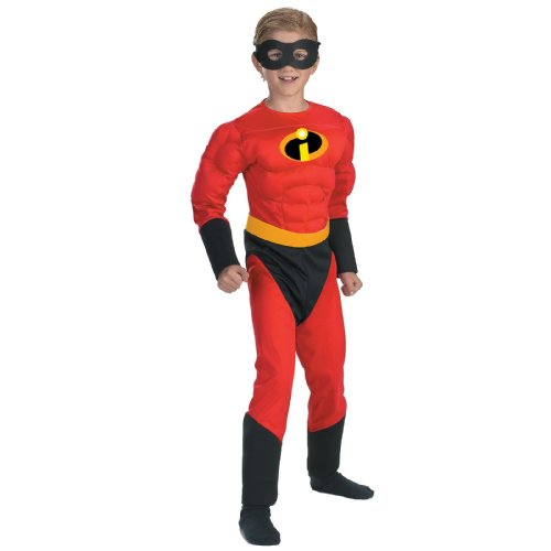 Disney The Incredibles Dash Classic Muscle Boys Costume, Medium/7-8