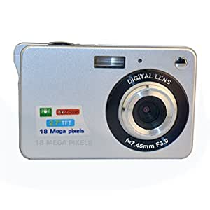 "Digital Camera, Webat 18 mega pixels HD Digital Video Camera 2.7"" TFT LCD 8x Zoom Digital Point and Shoot Camera for Student, Silver"