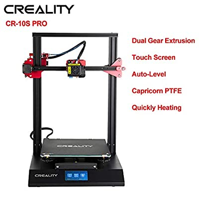 Creality 3D Printer CR-10S Pro with Auto-Level, Touch Screen, Capricorn PTFE and Bondtech Extruder Dual Gears, Large Build Size 3D Printer 300mmx300mmx400mm
