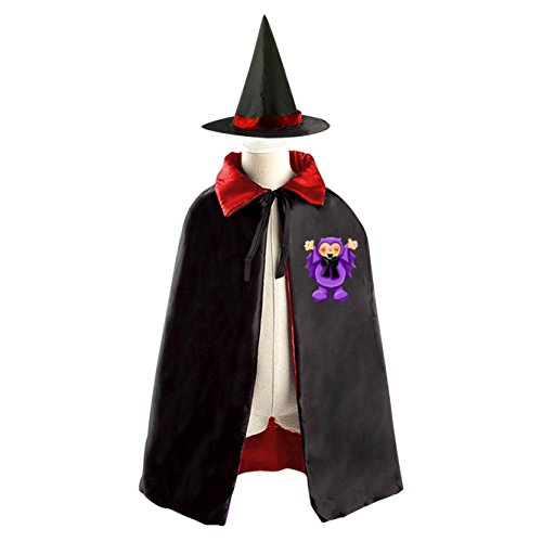 Adopt-A-Bat Cartoon Customization Halloween Cosplay Party Satin Witch Cloak Cape for Boys and (Adopt Me Halloween Costume)
