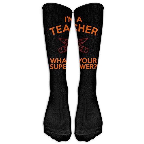 I'm A Teacher, What's Your Superpower Classics Stockings, Great Quality Knee High Tube Socks, Sports Long Socks For Men Women