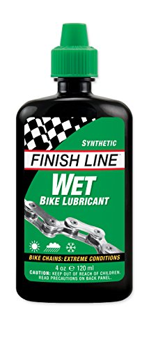 Finish Line Wet Bicycle Chain Lube  4 Ounce Drip Squeeze Bottle
