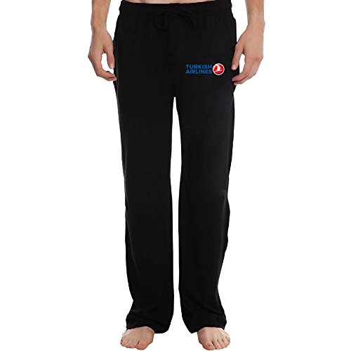 Turkish Airlines Logo Cool Men's Sweatpants Black L