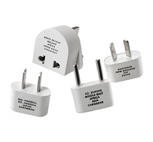 Nw135c Adapter Plug - Travel Smart M500ENR Adapter Plug Set, 4 Pieces