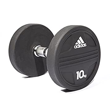 Adidas ADWT-11343 Mancuerna, Negro, 10 kg: Amazon.es: Deportes y aire libre