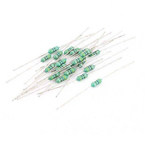 20 Pi/èces 470UH Inductance 1 2W 0.5Watt 10/% 0410 Couleur Anneau Inducteurs