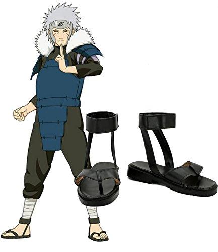 Naruto Anime Senju Tobirama Cosplay Sko Støvler Skreddersydde