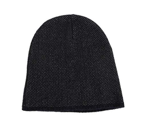 Gucci Unisex Dark Blue Wool Cashmere Cotton Beanie Hat with Logo 352350 4079 (XL)