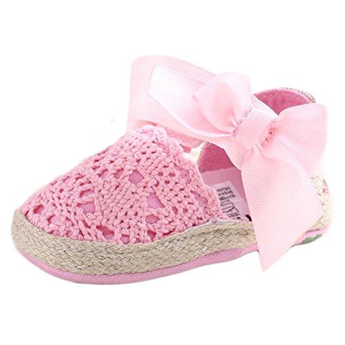 Bebé Niña Zapatos de verano infantil Sandalias tamaños de US, - caqui, 13-18 Months Rosa