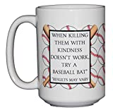Inappropriate Baseball Coffee Mug - Bats and Ball - 15oz