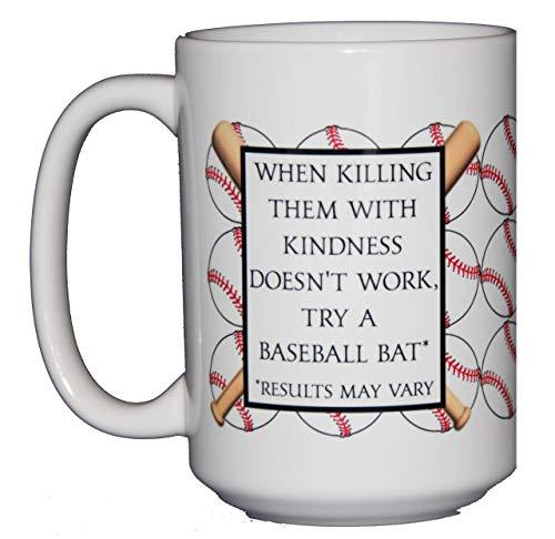 Inappropriate Baseball Coffee Mug - Bats and Ball - 15oz ()