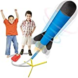 Play22 Toy Rocket Launcher - Jump Rocket Set Includes 6 Rockets - Play Rocket Soars Up to 100 Feet - Missile Launcher Best Gi