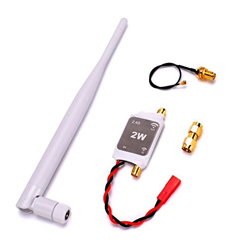 RC 2.4G Radio Signal Amplifier Booster Longer Flying Distance Range Extender Enhancer for DJI Phantom Transmitter and 2.4G Remote Control ()