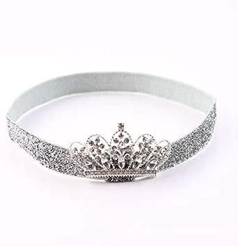 Baby crown headbands,glitter headband for new born elastic