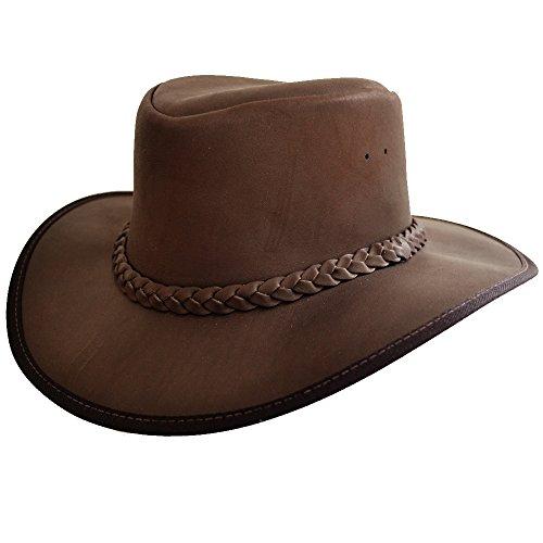 De Trenzado Cañonero Banda Piel Sombrero Sobreviviente Con qXTxTpEH 781f64943c2