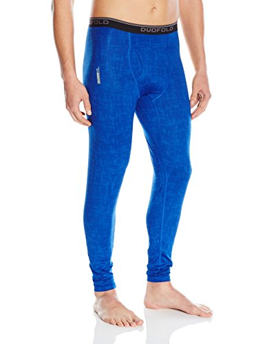 (Duofold Men's Light Weight Thermatrix Performance Thermal Pant, Surf The Web Glitch Texture, L)