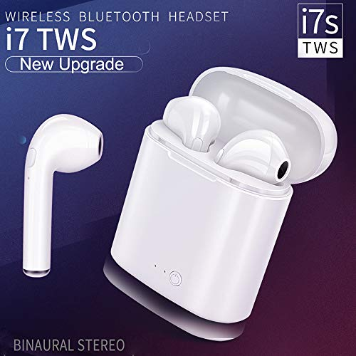 Stereo Wireless Headphones, Mini Bluetooth Earbuds Hands-Free Calling Earphones Sport Driving Headsets with Mic Single Ear/Double Ears/Double Ears with Charging case