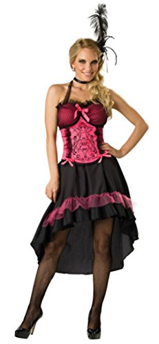 [Incharacter Womens Sexy Burlesque Dancer Saloon Gal Wild Western Fancy Costume, S (4-6)] (Saloon Gal Costumes)
