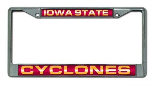 NCAA Iowa State Cyclones Laser Cut Chrome Plate ()