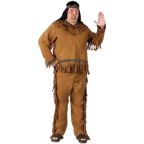 Fun World Men's Native American, Brown, Standard