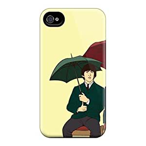 Perfect Hard Phone Covers For Iphone 4/4s With Unique Design Trendy The Beatles Pattern AlainTanielian