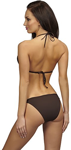 SHE Conjuntos de Bikinis para Mujer Blanca Marrón