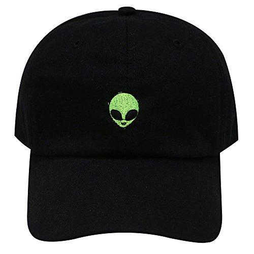 Alien Hat (Alien Dad Hat Curved Baseball Cap City Hunter Black Adjustable)