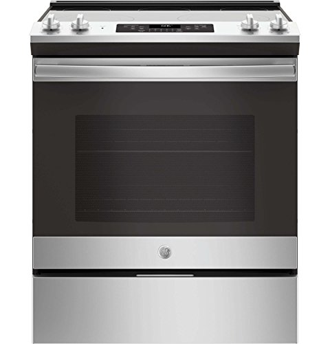 GE JS660SLSS 30 Inch Slide-in Electric Range with Smoothtop Cooktop, 5.3 cu. ft. Primary Oven Capacity, in Stainless Steel