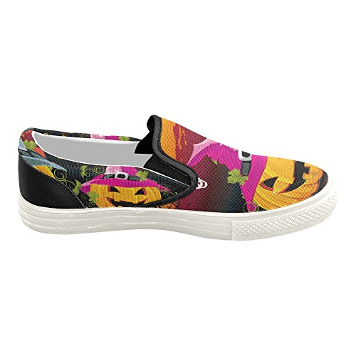 D-histoire Personnalisé Heureux Halloween Citrouille Hommes Slip-on Chaussures De Toile Mode Sneaker Halloween9