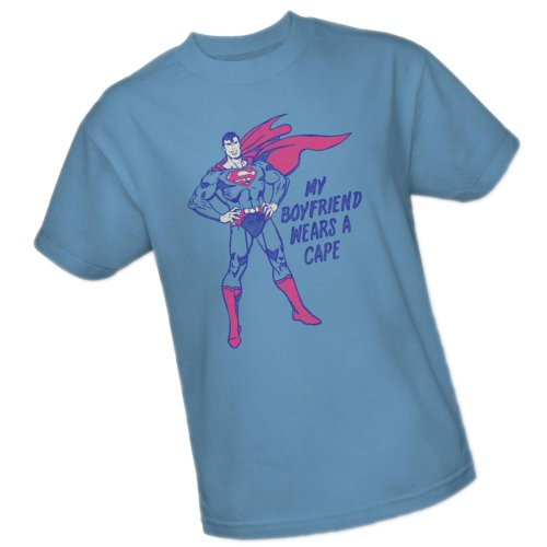 My Boyfriend Wears A Cape -- Superman Adult T-Shirt