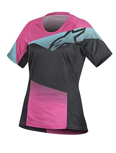 [Alpinestars Men's Stella Mesa Short Sleeve Jersey, Black/Raspberry Rose, Small] (Alpinestars Apparel)