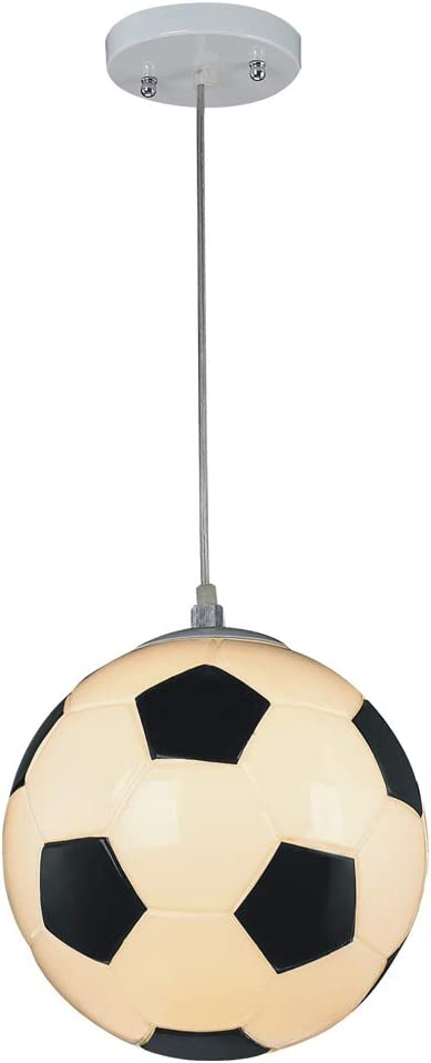 Wonderlamp W-A000118 Lámpara de techo infantil futbol, Color Blanco