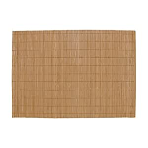 "BambooMN Brand - Bamboo Placemat/Sushi Rolling Mat - 12.75"" x 18.5"" - Brown, 4 pcs"