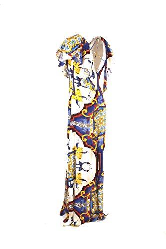 Imperial Abito Donna XS Bianco/Blu Axk9v2t Primavera Estate 2018 wIJfK
